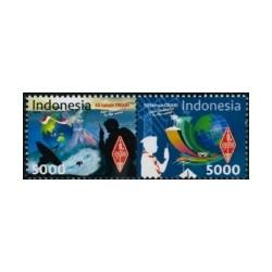 2018 Indonesië postzegels | 50 jaar organisatie voor radio amateurs