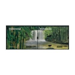 2018 Indonesië postzegels | Milieubescherming, kleine vogel