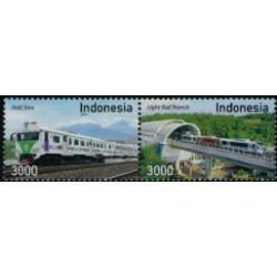 2018 Indonesië postzegels | Treinen