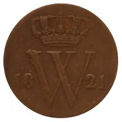 Koninkrijksmunten Nederland ½ cent 1821 B