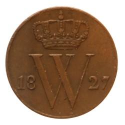 Koninkrijksmunten Nederland ½ cent 1827 U