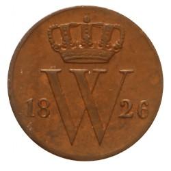 Koninkrijksmunten Nederland ½ cent 1826 B