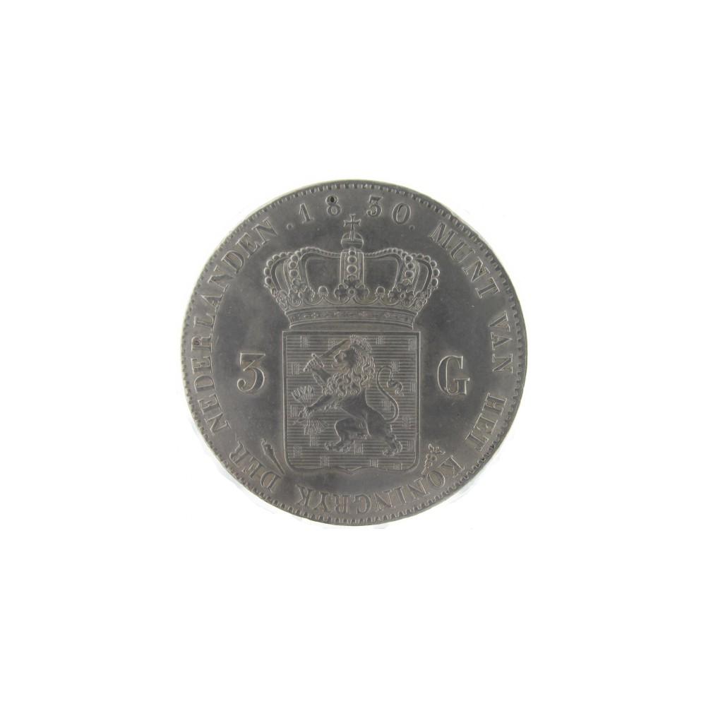 Koninkrijksmunten Nederland 3 gulden 1830/1820