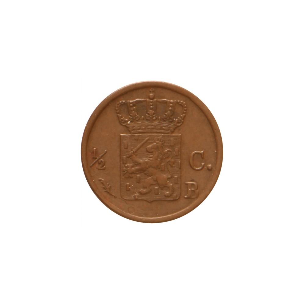 Koninkrijksmunten Nederland ½ cent 1822 B