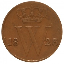 Koninkrijksmunten Nederland ½ cent 1823 U