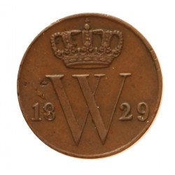 Koninkrijksmunten Nederland ½ cent 1829 U