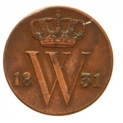 Koninkrijksmunten Nederland ½ cent 1831 U