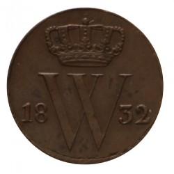 Koninkrijksmunten Nederland ½ cent 1832 U