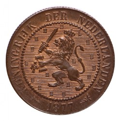 Koninkrijksmunten Nederland 2½ cent 1877