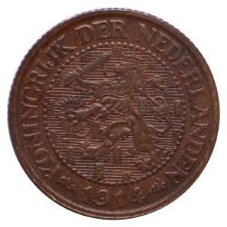 Koninkrijksmunten Nederland 2½ cent 1914