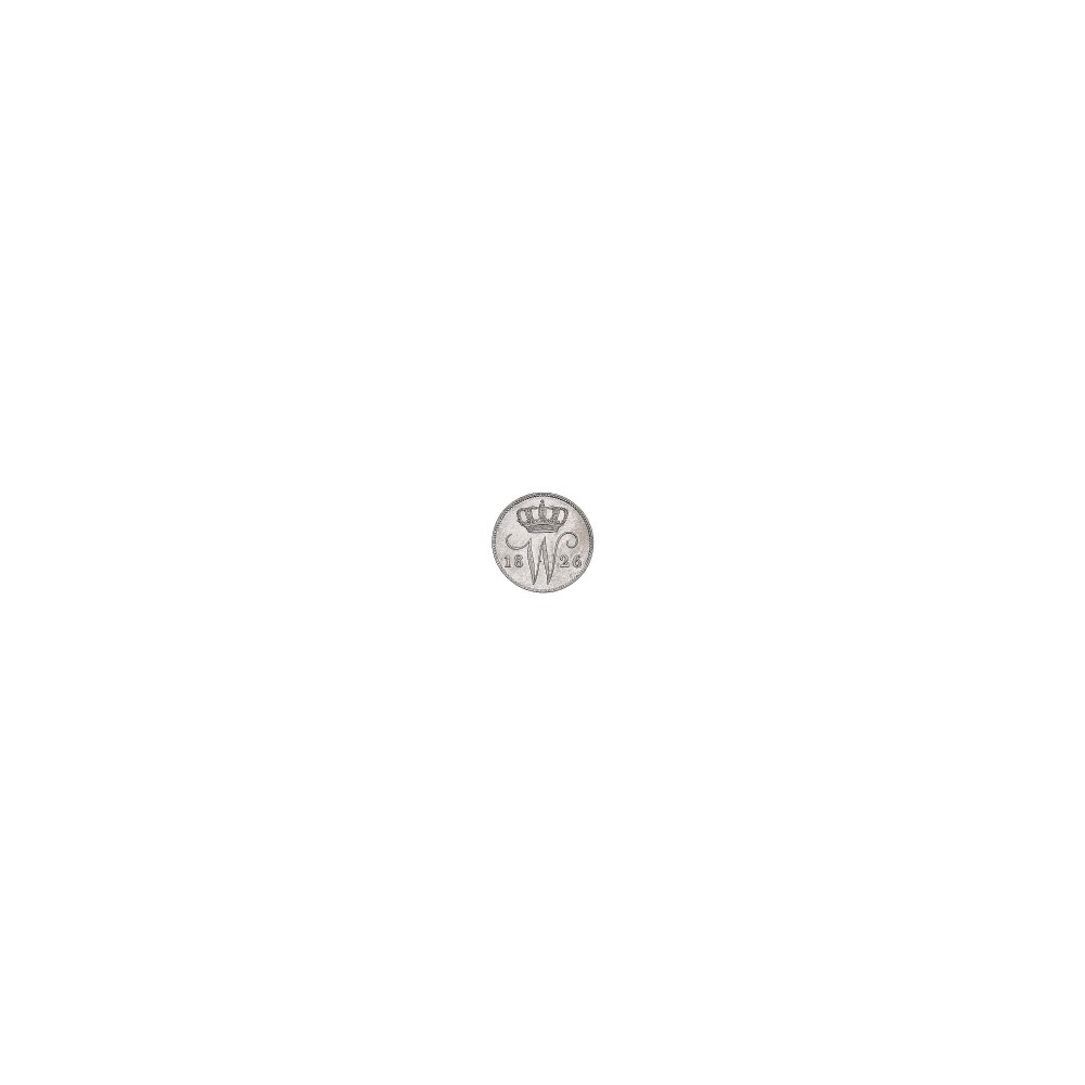 Koninkrijksmunten Nederland 25 cent 1826 B