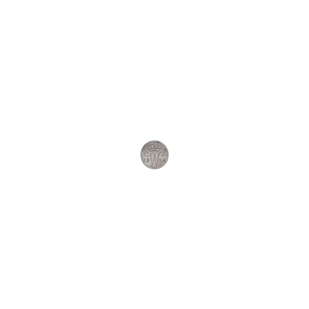 Koninkrijksmunten Nederland 25 cent 1829 B