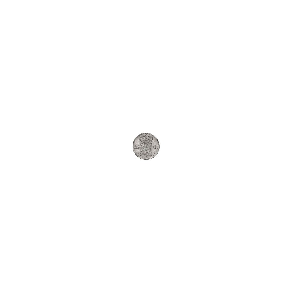 Koninkrijksmunten Nederland 25 cent 1830 B