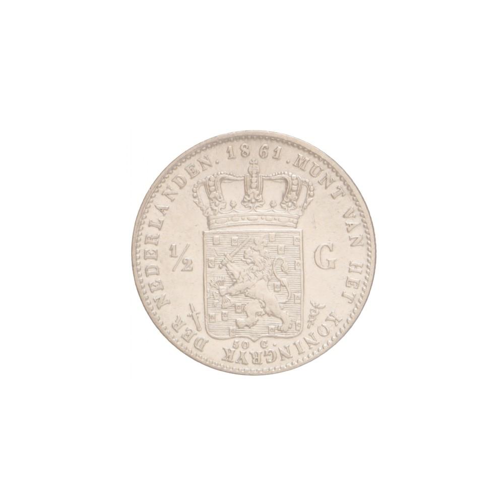 Koninkrijksmunten Nederland ½ gulden 1861