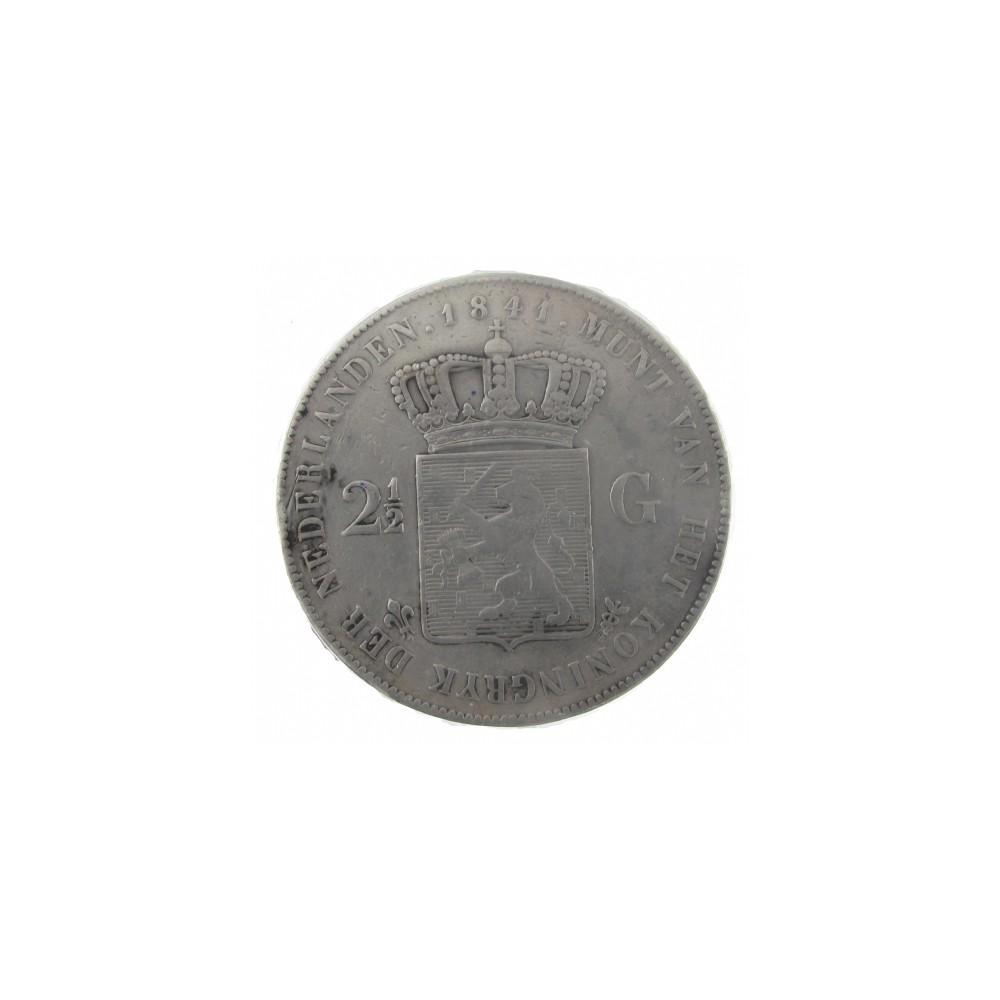 Koninkrijksmunten Nederland 2½ gulden 1841