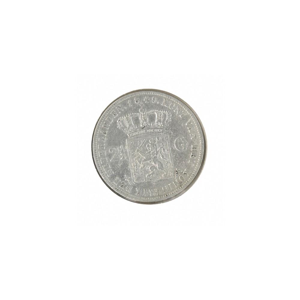 Koninkrijksmunten Nederland 2½ gulden 1849