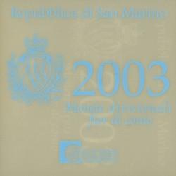 San Marino BU-Set 2003 + 5 euromunt