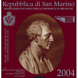 San Marino 2 euro 2004 in blister 'Borghesi'