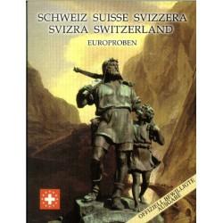 Zwitserland blister 1c t/m 2 E 2003