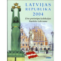 Letland blister 1c t/m 2 E 2004