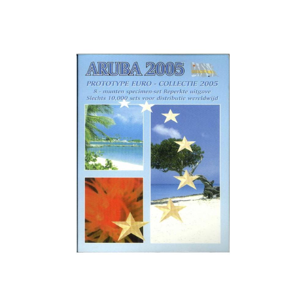 Aruba blister 1c t/m 2 E 2005