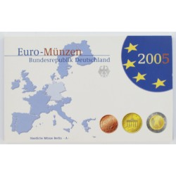 Duitsland serie Proofsets 2005 5 Proof-Sets Letters A, D, F. G, J