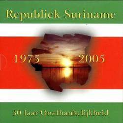 Suriname bu-set 30 jaar onafhankelijkheid 1, 5, 10, 25, 100 en 250 cent