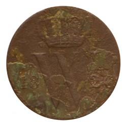 Koninkrijksmunten Nederland ½ cent 1826 U