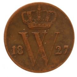 Koninkrijksmunten Nederland ½ cent 1827 B