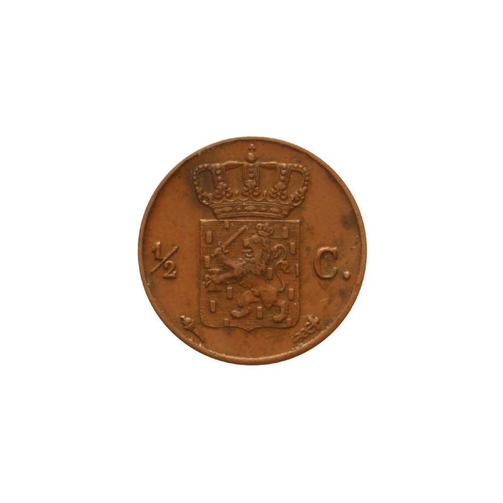 Koninkrijksmunten Nederland ½ cent 1837 U
