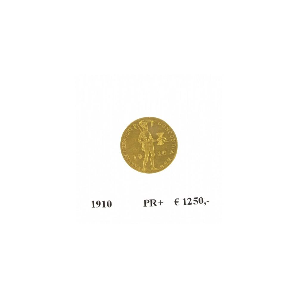Koninkrijksmunten Nederland Gouden dukaat 1910