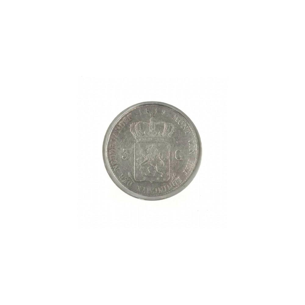 Koninkrijksmunten Nederland 3 gulden 1819 U
