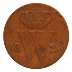 Koninkrijksmunten Nederland ½ cent 1828 B
