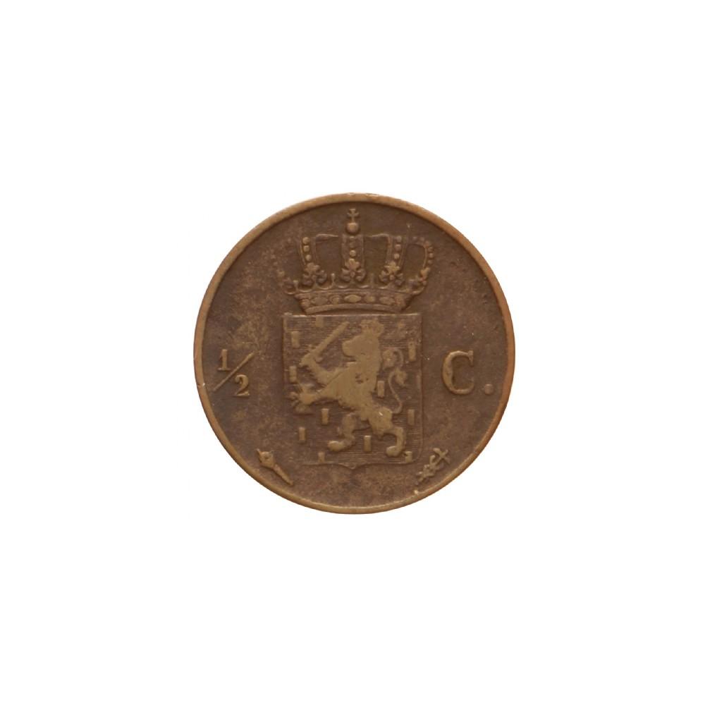 Koninkrijksmunten Nederland ½ cent 1819 U