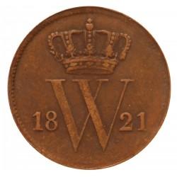 Koninkrijksmunten Nederland 1 cent 1821 B
