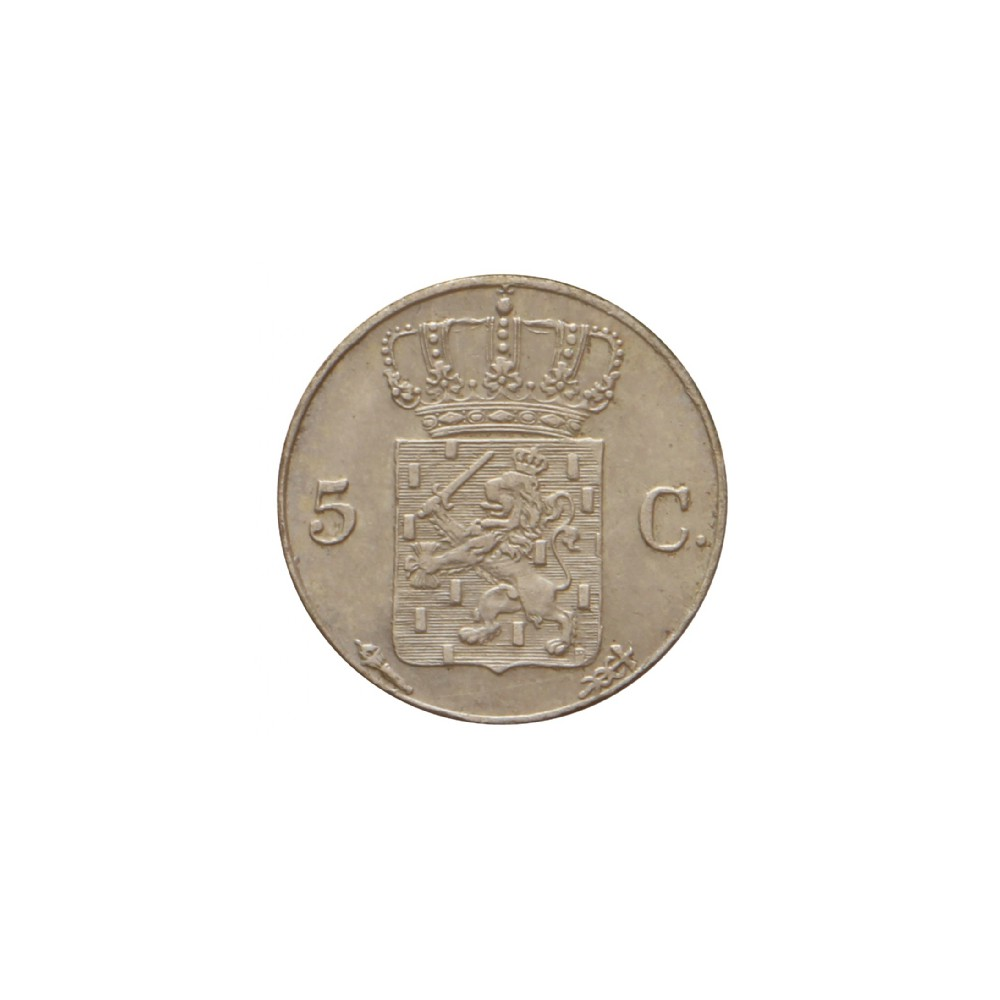 Koninkrijksmunten Nederland 5 cent 1822 U