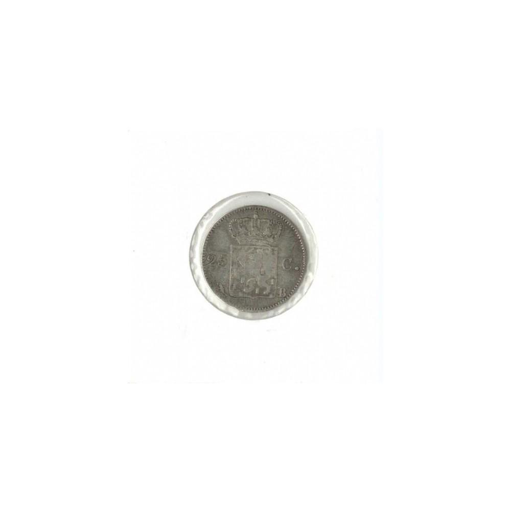 Koninkrijksmunten Nederland 25 cent 1823/1822 B
