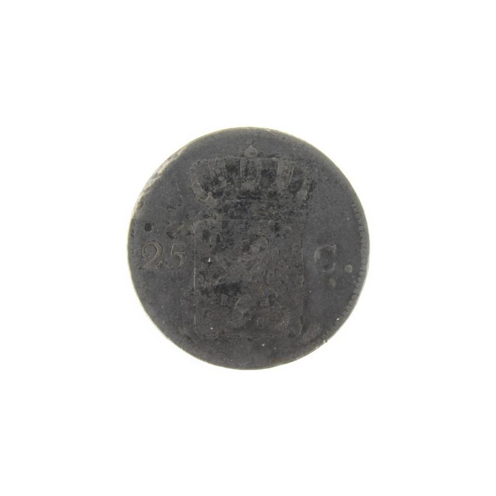 Koninkrijksmunten Nederland 25 cent 1829 U