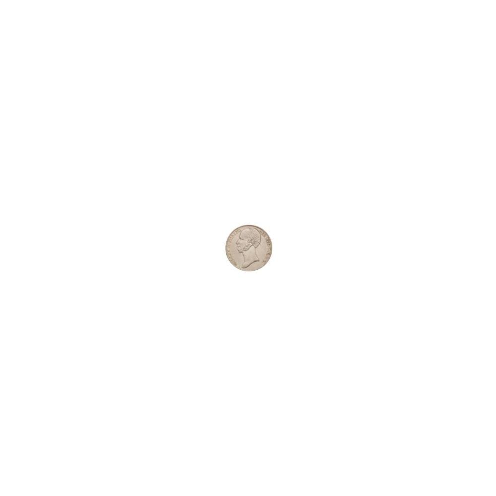 Koninkrijksmunten Nederland 2½ gulden 1845 lelie met parel op de band