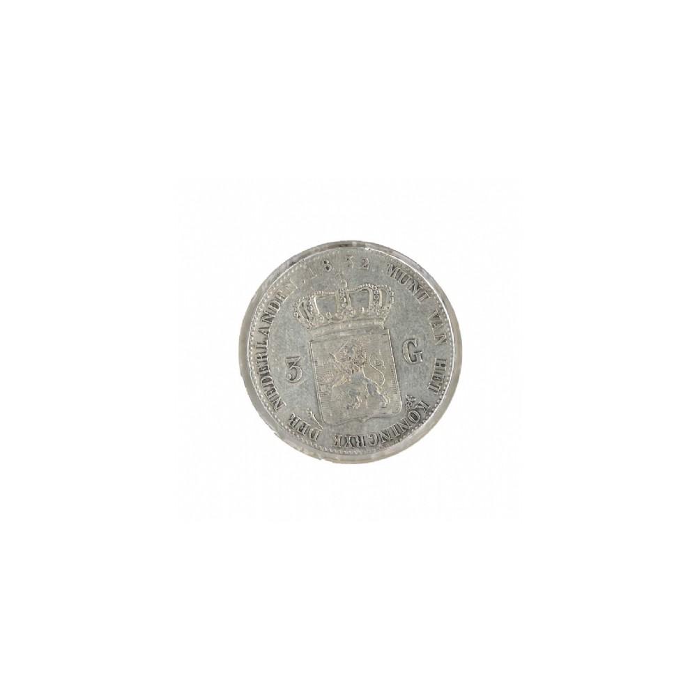 Koninkrijksmunten Nederland 3 gulden 1832/1821