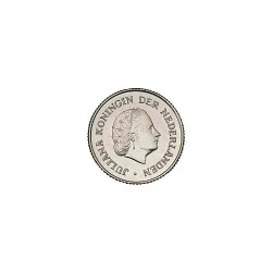 Koninkrijksmunten Nederland 25 cent 1969 vis