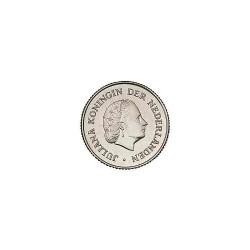 Koninkrijksmunten Nederland 25 cent 1969 haan