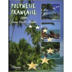 Polynesie Francaise blister 1c t/m 2 E 2005