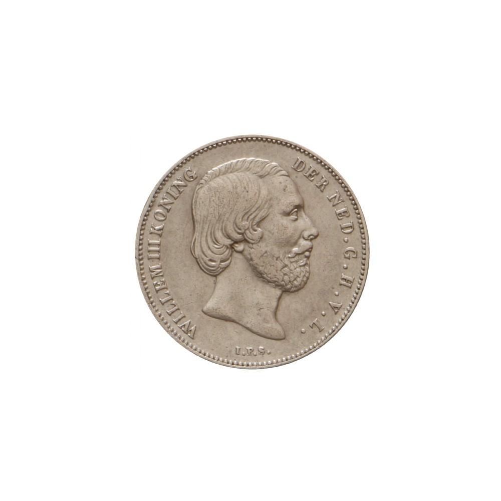 Koninkrijksmunten Nederland ½ gulden 1853/1843 overslag