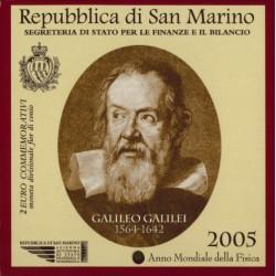 San Marino 2 euro 2005 in blister 'Galileo Galilei'