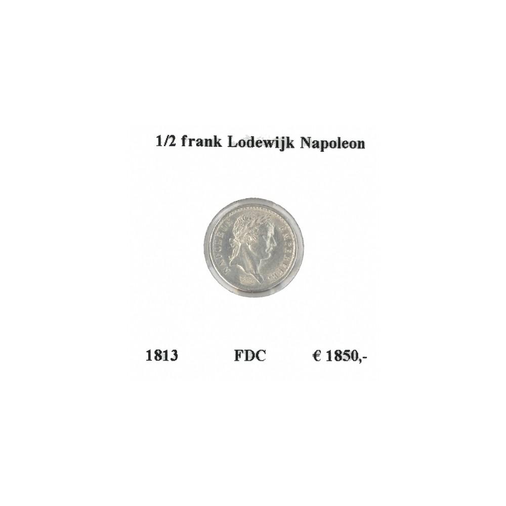 Keizer Napoleon I ½ franc 1813 R