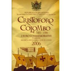 San Marino 2 euro 2006 in blister 'Christof Columbus'