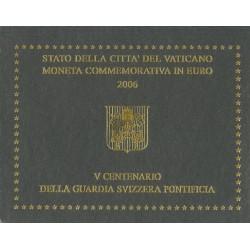 Vaticaan 2 euro 2006 in blister 500 jaar Zwitserse Garde