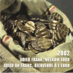 Belgie BU-Set 2002 'Adieu Frank, welkom Euro'