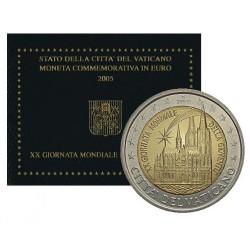 Vaticaan 2 euro 2005 20e Wereldjongerendag in blister